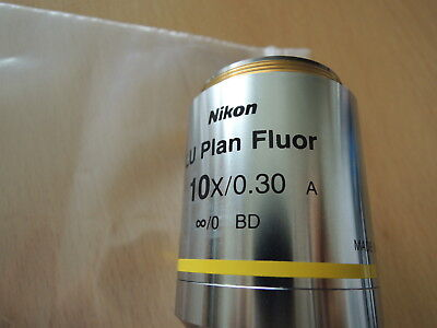 Nikon Lu Plan Fluor 10x0.30 A 0 Bd Ofn25 Wd 15 Free Expedited Shipping
