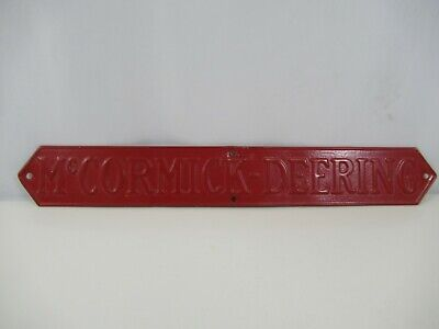 Mccormick-deering Nameplate Radiator Grill Tag Plate Tractor Farmall Vtg