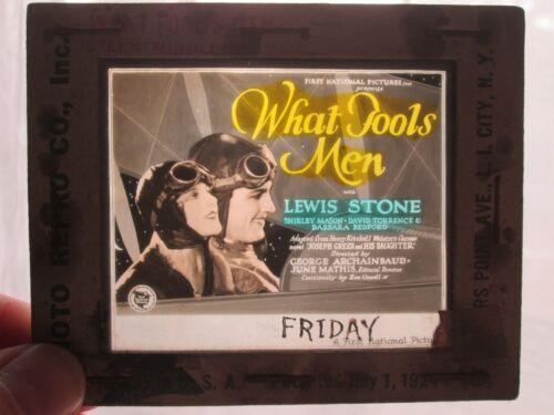 What Fools Men -Original 1925  Movie Glass Slide - Stone - Mason