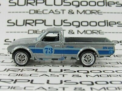 Hot Wheels 1:64 LOOSE ZAMAC 1970's DATSUN 620 Pickup Custom SUPER w/Real Riders