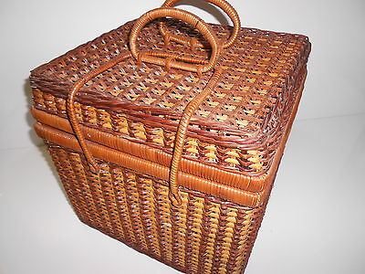 Wicker Picnic Basket With Accessories for -