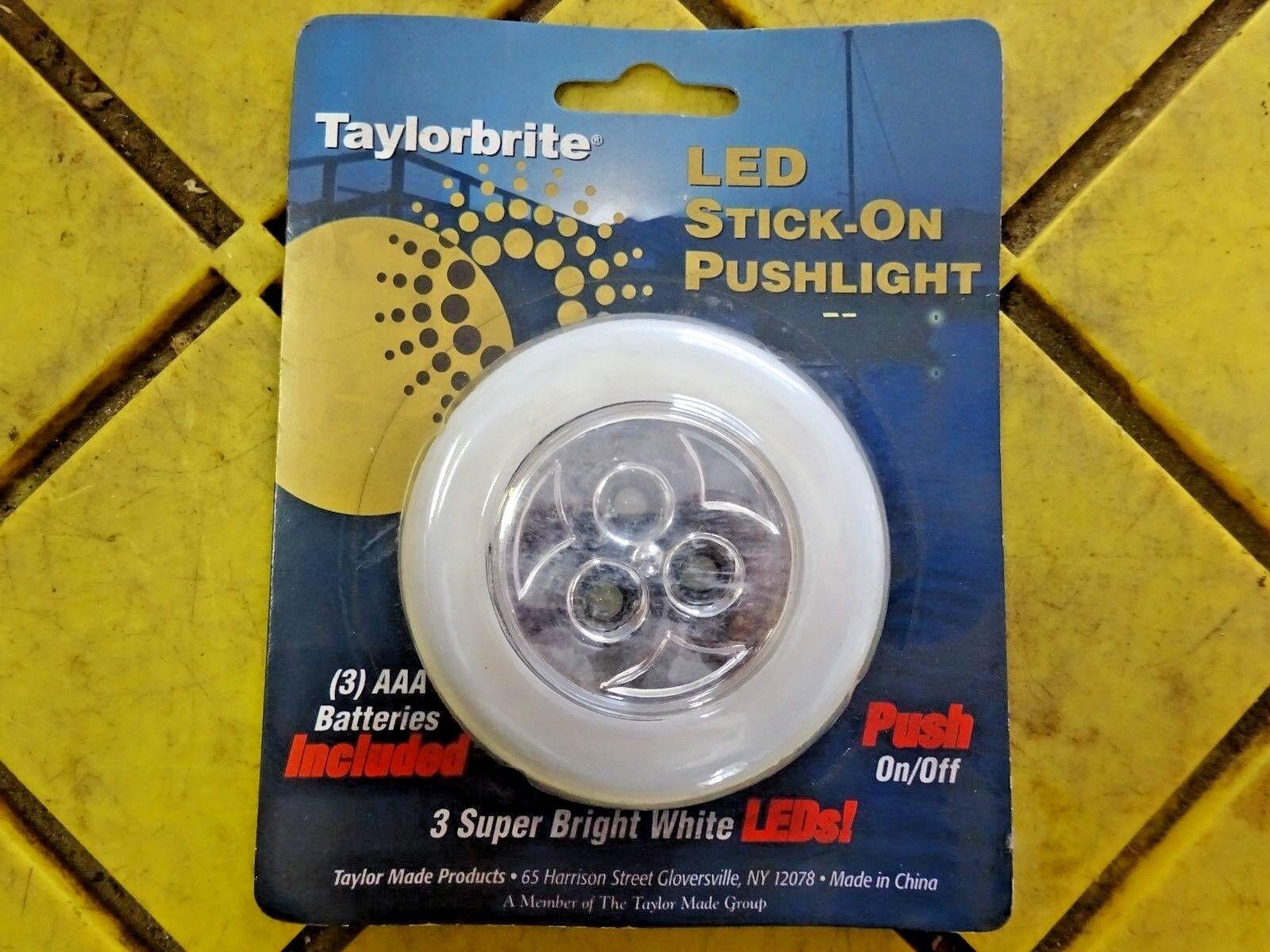 Taylorbrite LED Stick-On 3 LED Pushlight, White LSPW