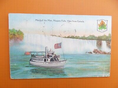 AK Maid of the Mist - Niagara Falls - View from Canada - 1928