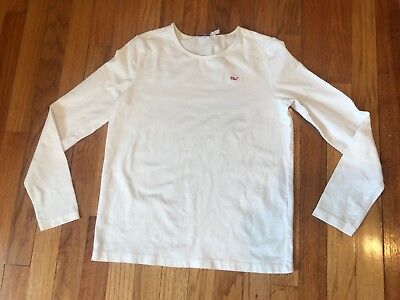 Girl's Vineyard Vines Whale Long Sleeve White T Shirt large 14 - Girl Vines