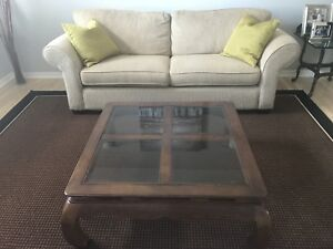 Selling Couch, coffee table, area rug $500