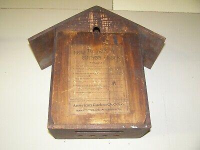 Antique American Cuckoo Clock Co 8