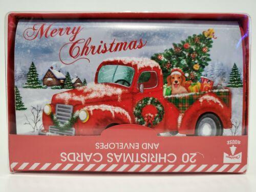 20 Christmas Cards and Envelopes (New Boxed) Navidad, Holidays, Greeting, Xmas
