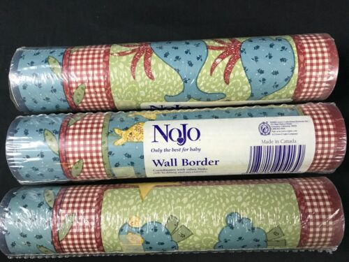 NoJo Wall Border Wallpaper Noahs Patch 435431 Ark Giraffes Sheep 3 ROLLS