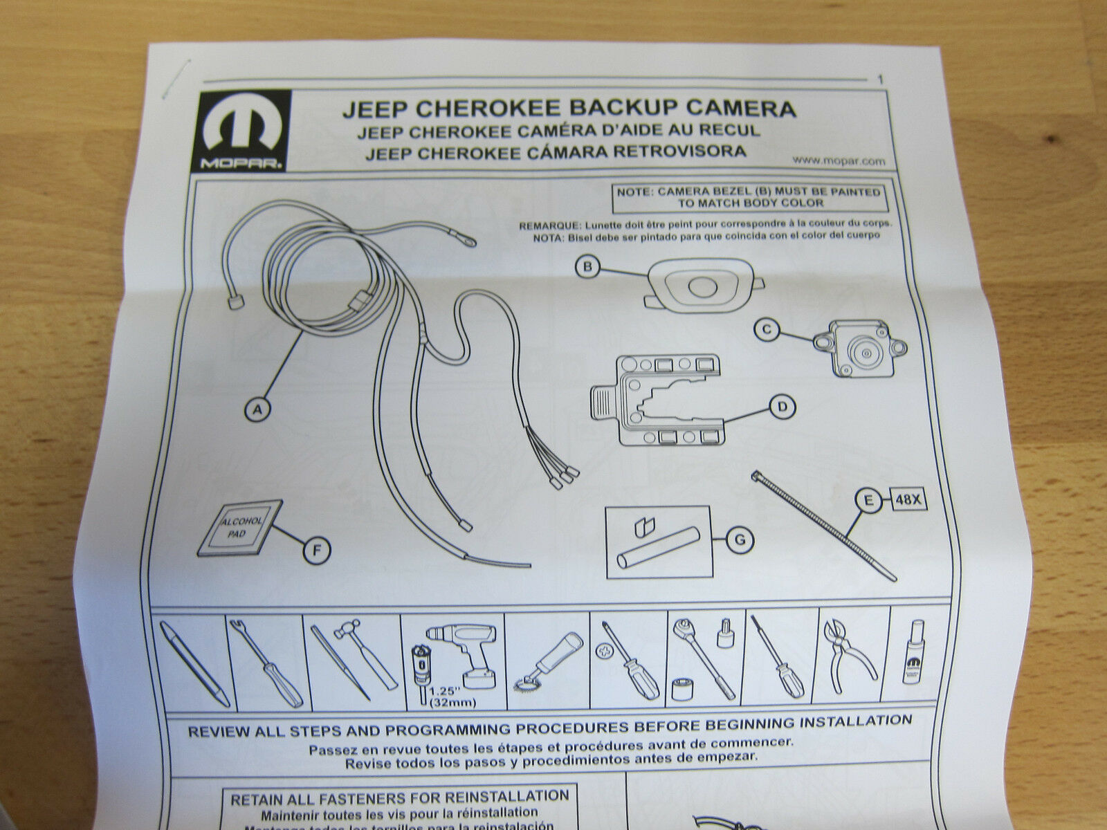 Jeep Backup Camera Wiring Diagram Explained Diagrams F150 2014 2017 Cherokee Rear View Reverse Back Up Kit Mopar F 150 Aftermarket Wire
