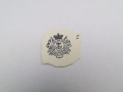 ANTIQUE MILITARY CLUB  EMBOSSED WAX SEAL CREST ARMORIAL LETTER HEAD BOOK PLATE