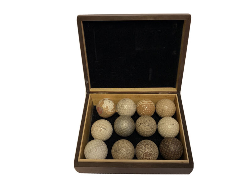 Antique Lot of 12 Golf Balls Tommy Armour