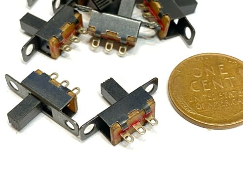 6 Pieces SS12F15G6 ON/off 2 Position 1P2T SPDT Panel Mini Slide Switch C12