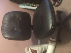 Leather-like desk chair in good shape