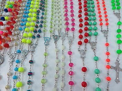 US SELLER-12pcs wholesale Religious catholic Rosary Crucifix cross necklace