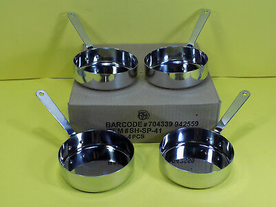 Lot Of 4 American Metalcraft Shsp41 Stainless Steel Mini Fry Pan 13 Oz New 4 34