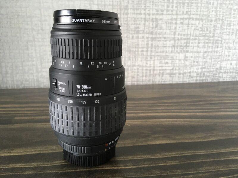 Sigma AF  70-300mm f4-5.6 D DL  Macro Super Lens Nikon
