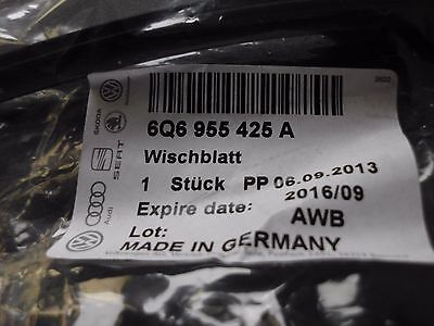 1 Hintere autowischblatt original VW   6Q6 955 425 A