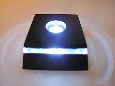 """LED Light Stand for Crystal / Glass Art / White Light - """"New Design"""""""