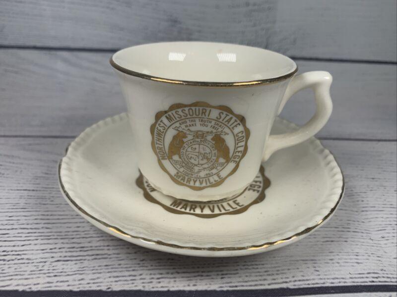Vintage Northwest Missouri State University Maryville, Missouri Teacup & Saucer