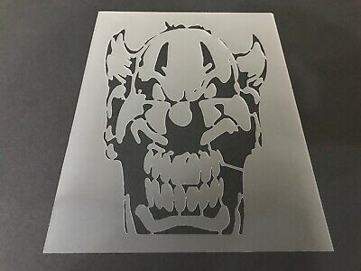 Clown #1 Stencil 10mm or 7mm Thick, Scary Clowns, Halloween, - Scary Clown Paint