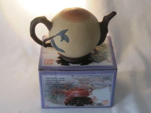 Rare Vintage China Unglazed Earthenware of Yixing Precious Art Teapot Org. Box