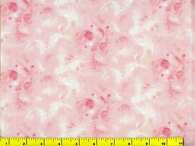 Pink Watercolor Abstract Flowers Blender Quilting Fabric by Yard  #187 for sale  Shipping to India