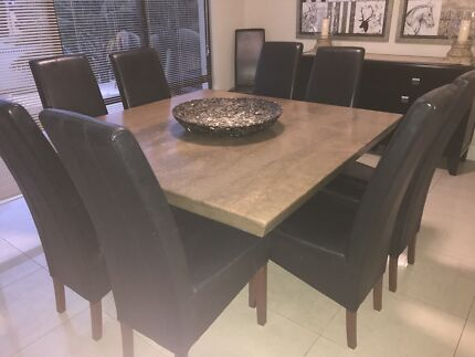 Travertine Dining Table Chairs
