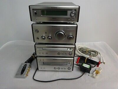 Vintage SONY Micro Hi-Fi System, Radio/CD/Cassette Tape, All Cables/Instructions