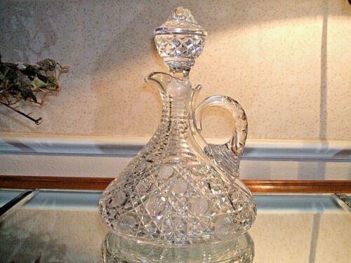 Magnificent American Brilliant Period Cut Glass Oval Ship Decanter