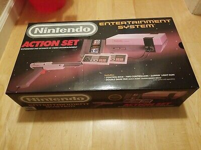 ORIGINAL 1988 NINTENDO ENTERTAINMENT SYSTEM ACTION SET RARE GRAY ZAPPER NEW...