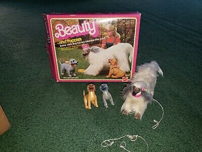 1981 Mattel Barbie's Beauty and Puppies Afghan in Box