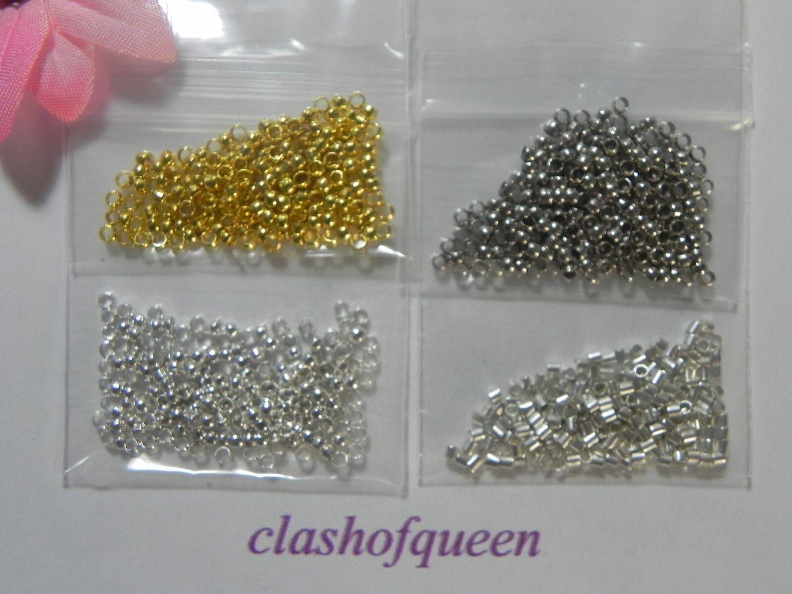 50 200 round copper crimp beads jewelry