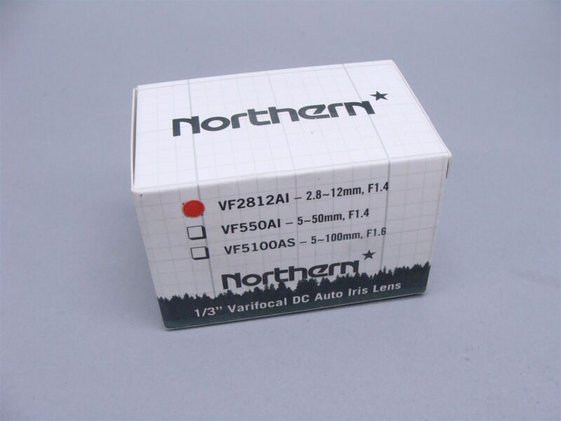 "NEW Northern VF2812AI 2.8~12mm, F1.4 1/3"" Varifocal DC Auto Iris Lens"