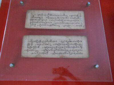 Altes Schriftbild- Kathmandu in Plexi-Rahmen fixiert, sehr selten, 52x55cm