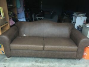 Price Drop* Real Leather Couch and Chair