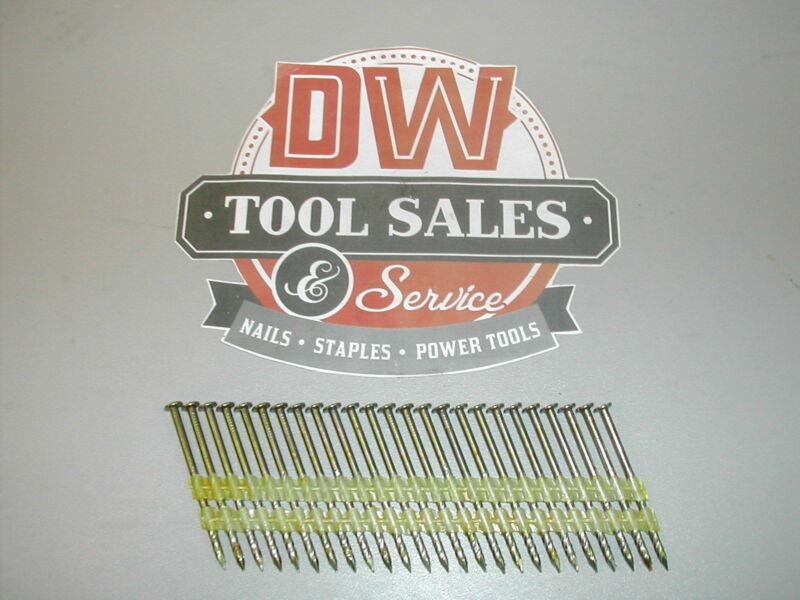 "8d 2 3/8"" Inch Plastic Strip Nails Full Round Head 21 Degree Screw Shank (2,500)"