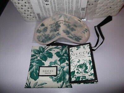 Gucci Bloom Eye Mask /Travel Sleeping Blindfold & Pouch & Gucci Bloom Sample New