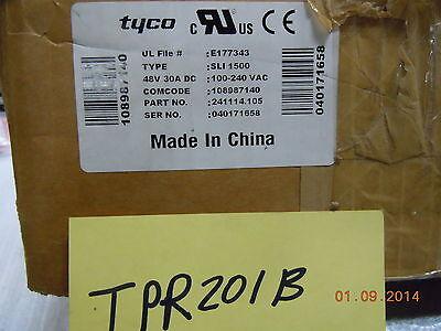 Tyco 241114.105 Sli 1500 Power Supply Verson 006 New Free Shipping