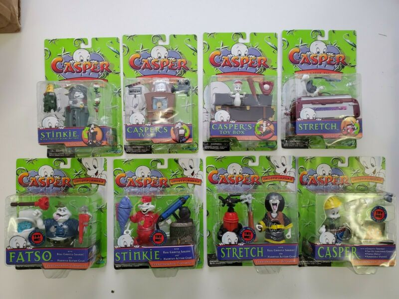 8 new sealed casper action figure lot trendmasters stinkie stretch fatso