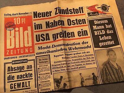 Bildzeitung BILD 09.11.1956 * Das besondere Geschenk zum 62. 63. 64. Geburtstag