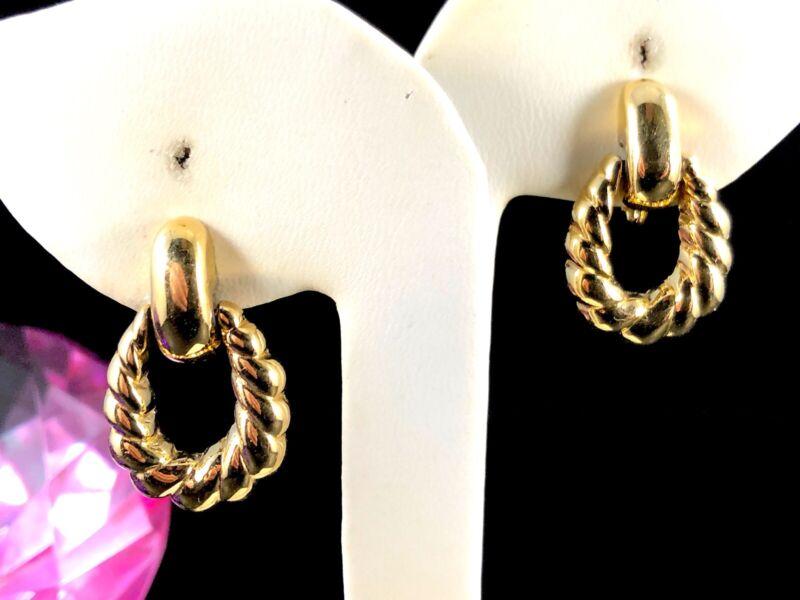 High Fashion Napier Jewelry Vintage Napier Gold Tone Door Knocker Style Screw backs Retro Classy Elegant Shiny Metal Mother/'s Day Gift