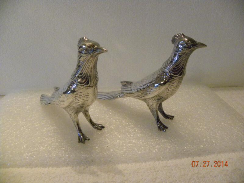 W.B. Mfg Co Silverplate Pheasants