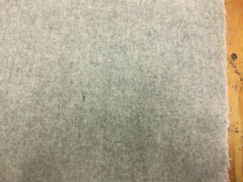 1.875 yds Light Gray Mid Century Modern Heather Wool Upholstery Fabric PF