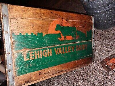 Vintage Milk Bottle Wood Box 16x13.5x10.5in Lehigh valley Dairy PA NJ