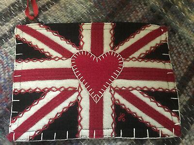 Jan Constantine small felt Union Jack zipped bag