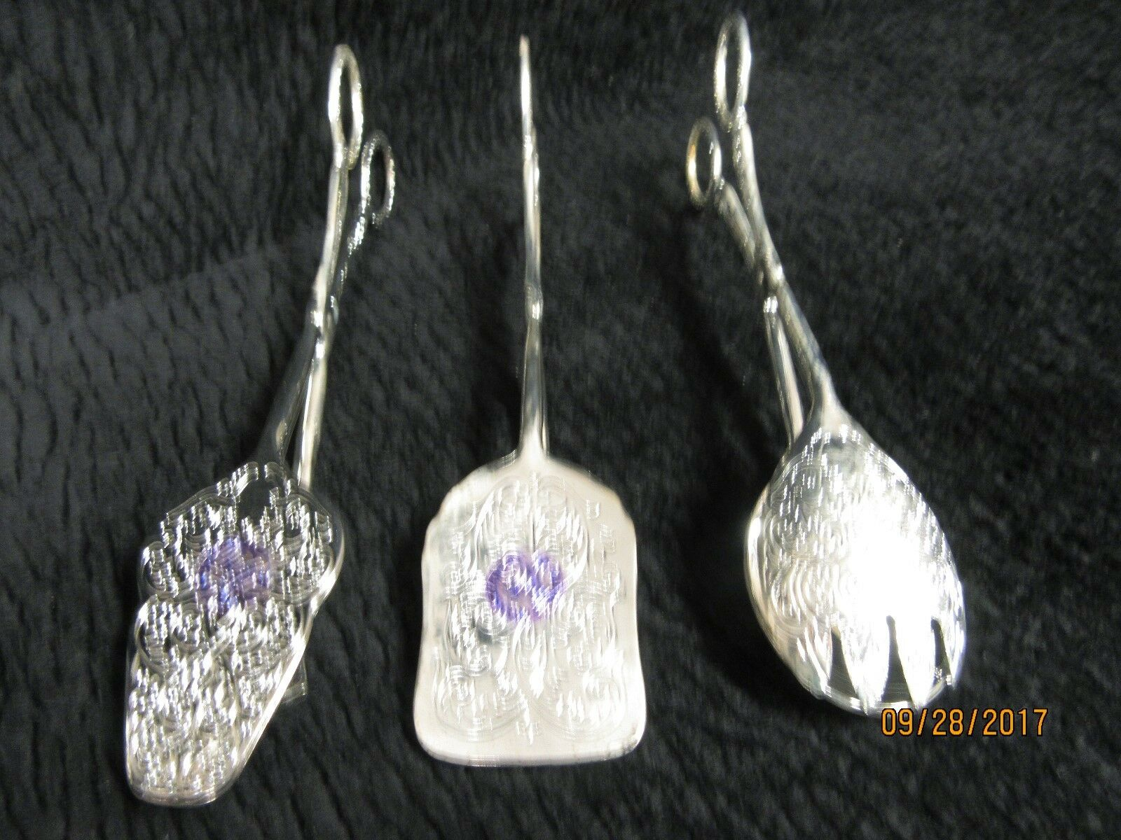Vintage International Silver Company Set Of 3 Serving Tongs New