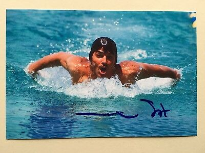 "swimming mark spitz signed 6"" x 4"" photograph"