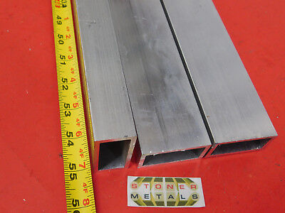 3 Pieces 1x 2x 18 Wall Aluminum Rectangle Tube 6063 T52 X 55 Long 1.0x 2.0