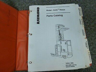 Raymond Model Easi Reach Forklift Lift Truck Parts Catalog Manual Sn 00001-up