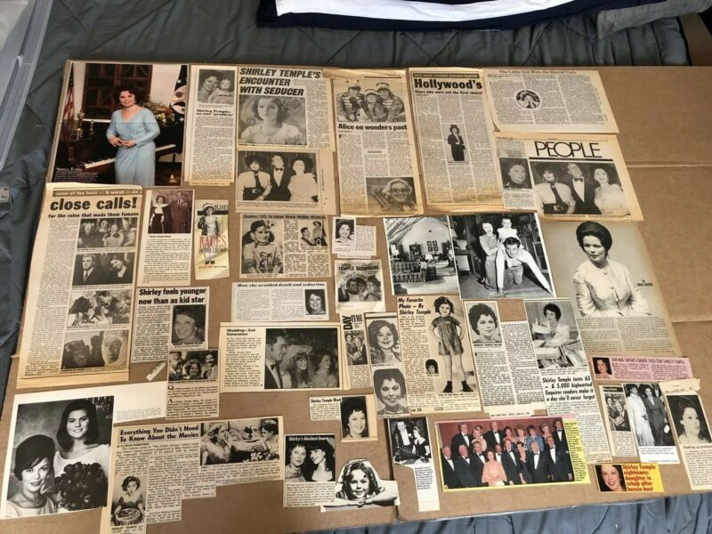 SHIRLEY TEMPLE -  Assorted Lot of Clippings